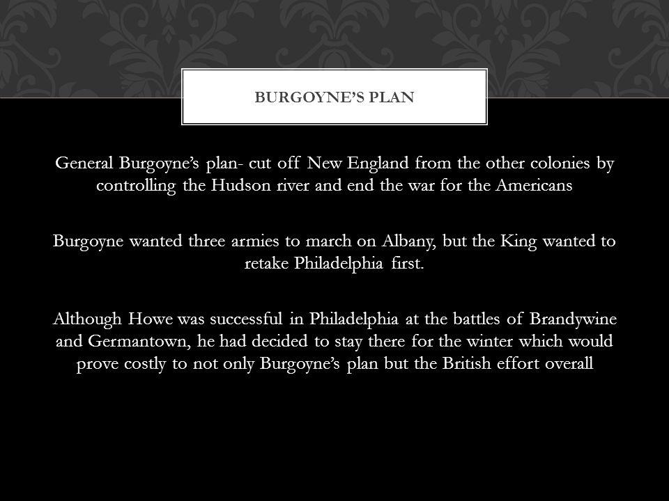 Burgoyne's Plan