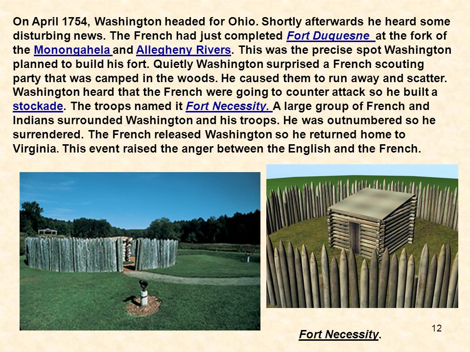 On April 1754, Washington headed for Ohio