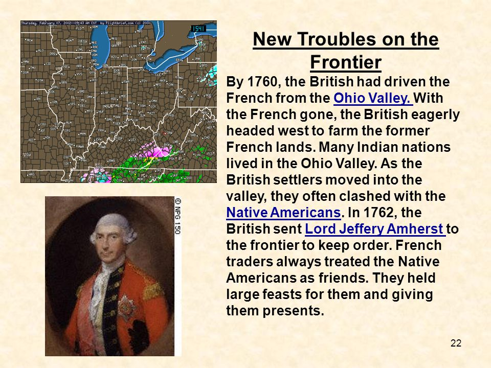 New Troubles on the Frontier