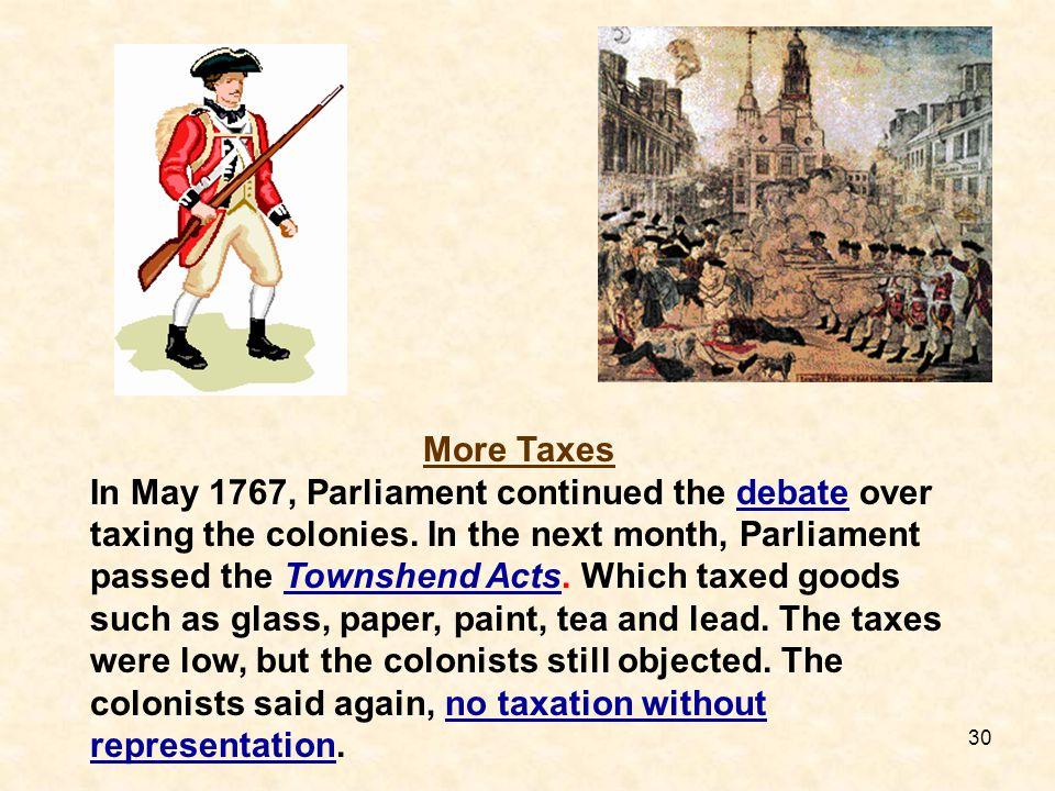 More Taxes