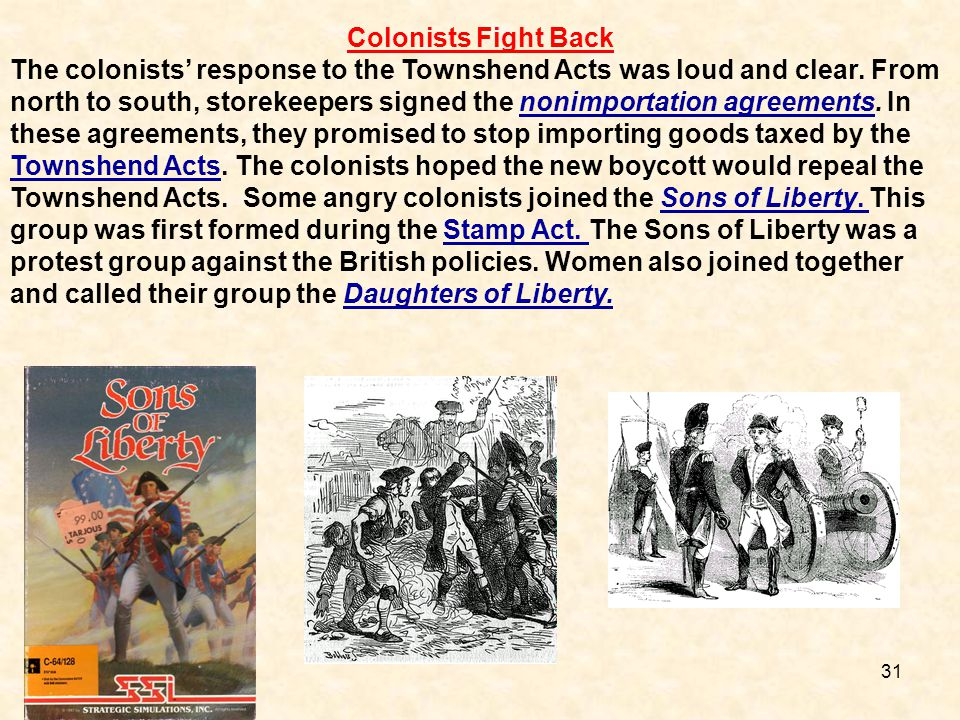 Colonists Fight Back