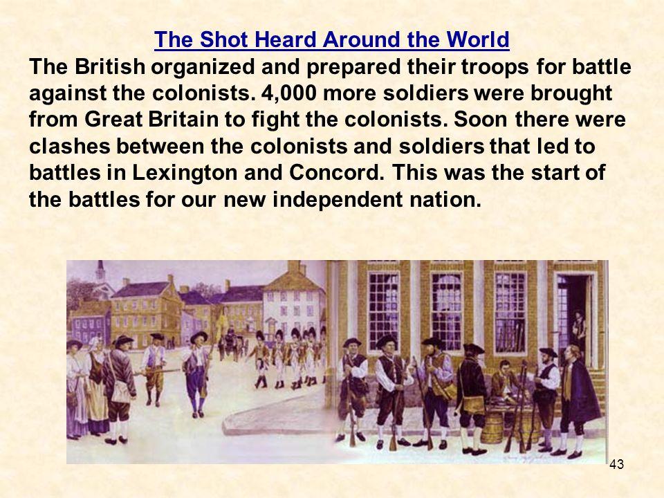 The Shot Heard Around the World
