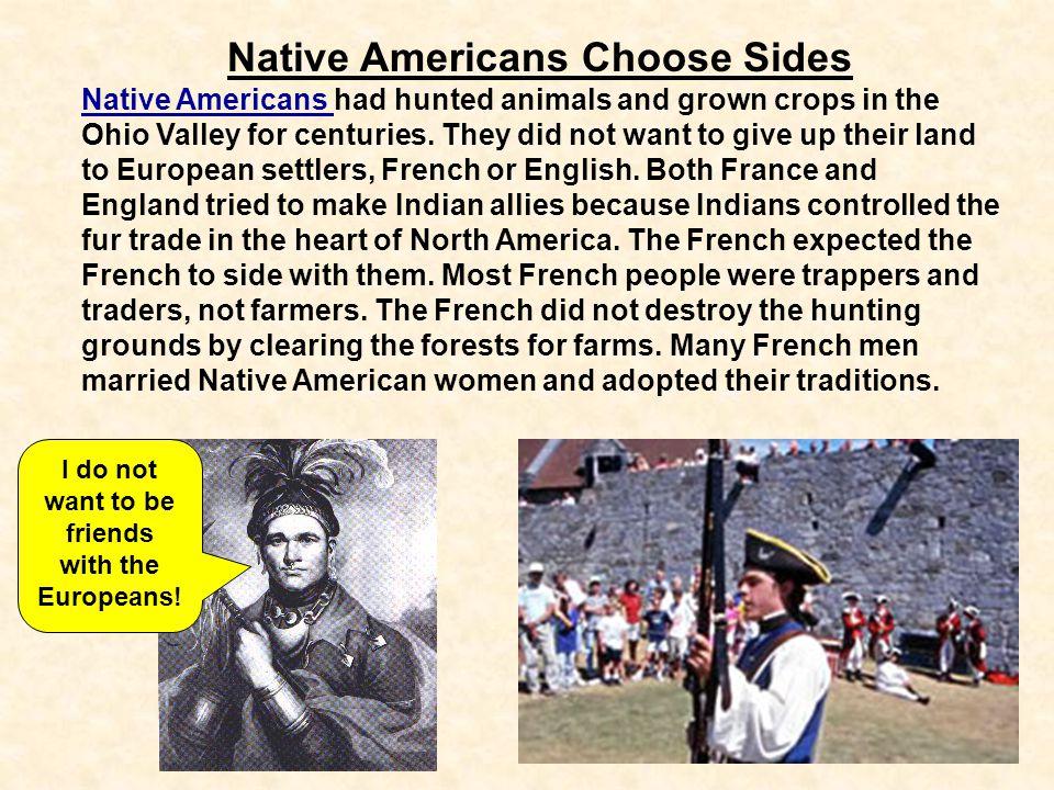 Native Americans Choose Sides