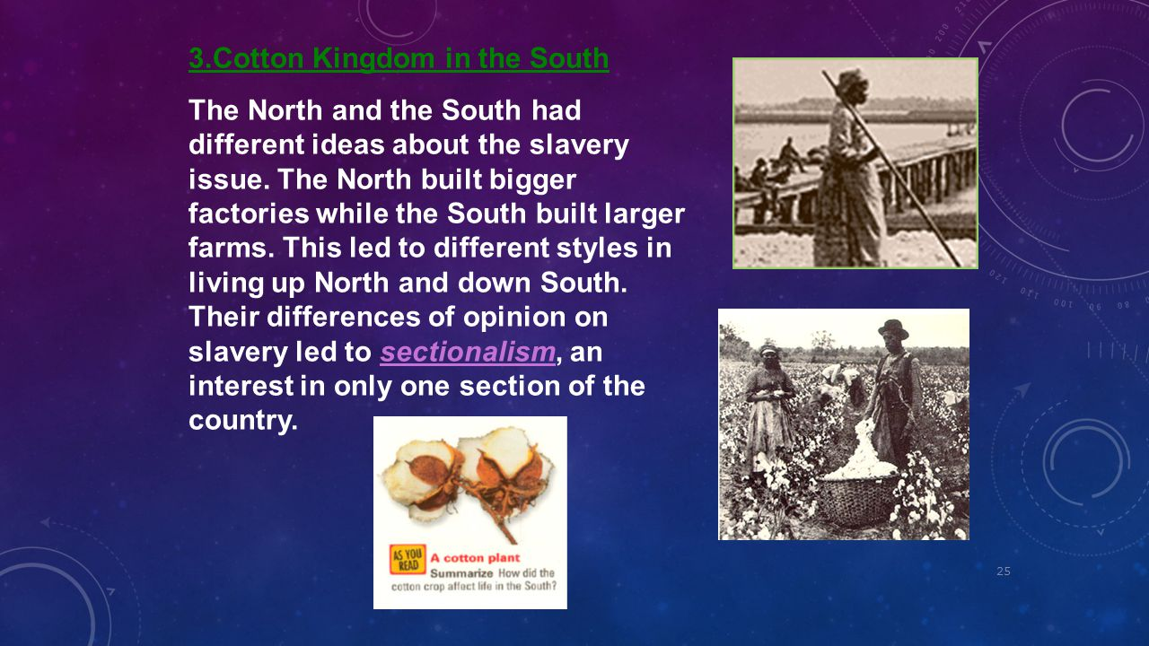 3.Cotton Kingdom in the South