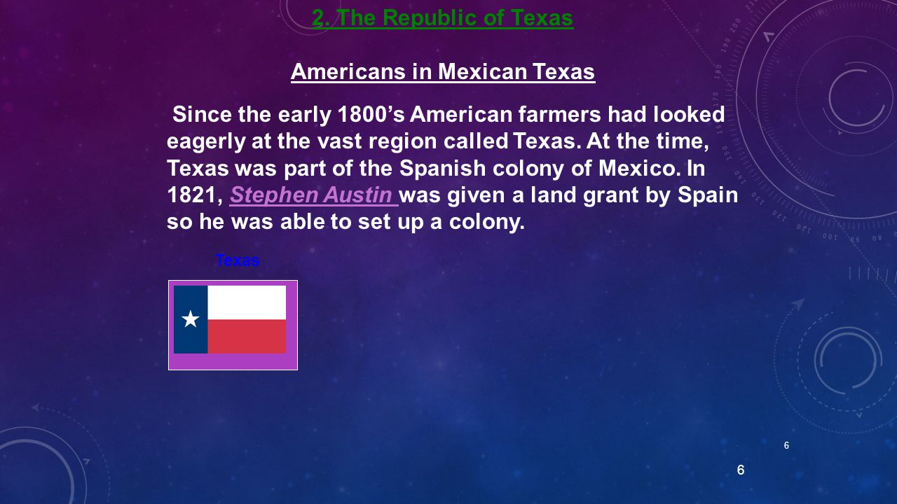 Americans in Mexican Texas