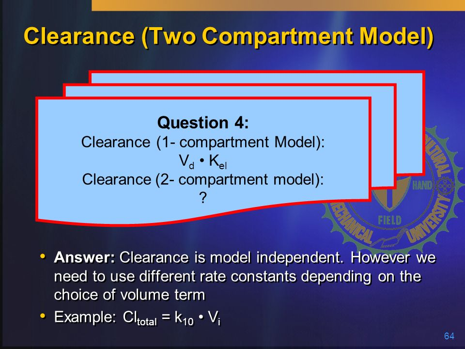 Clearance (Two Compartment Model)