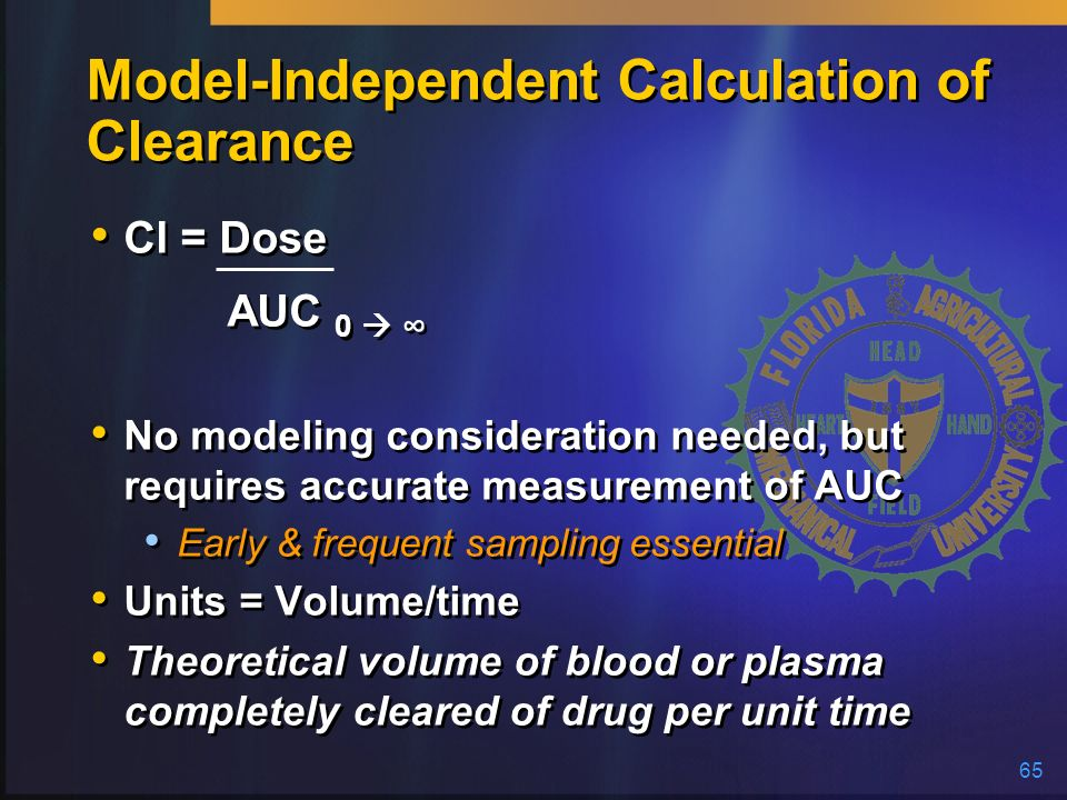 Model-Independent Calculation of Clearance