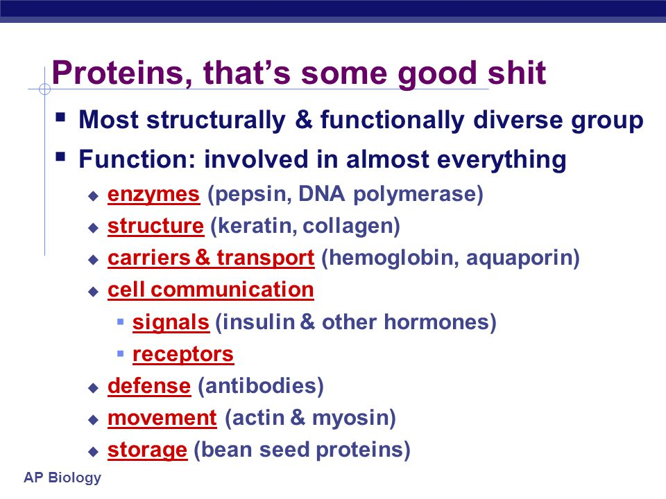 Proteins, that's some good shit