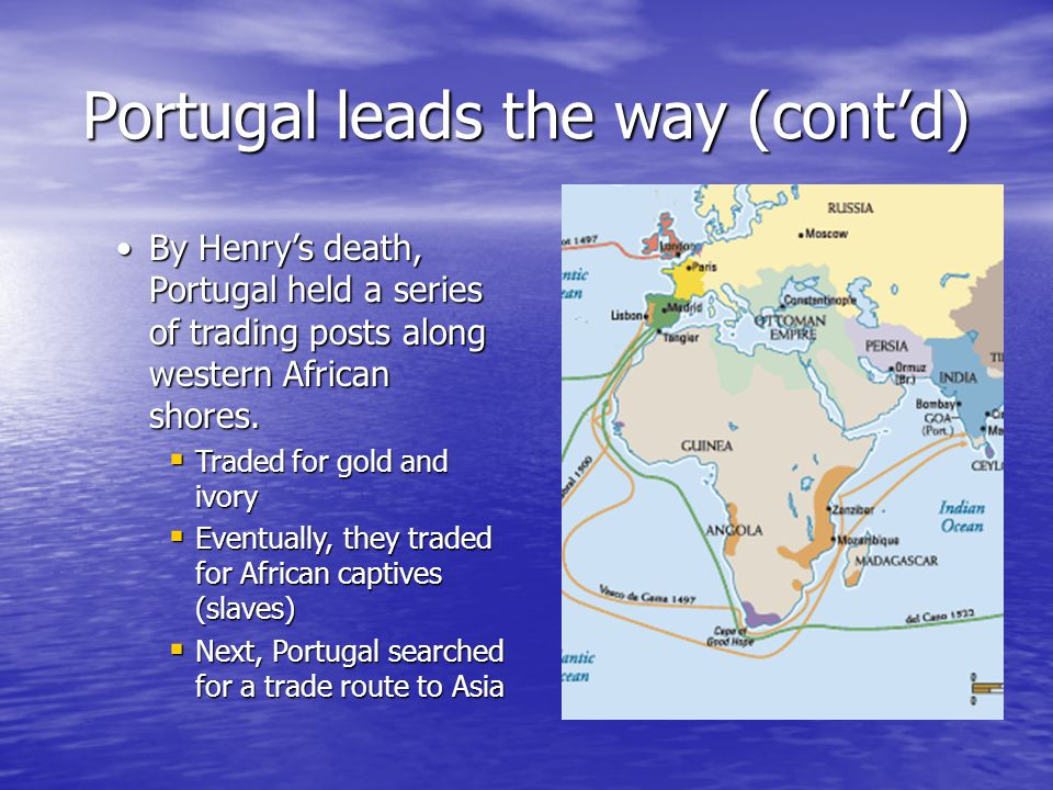 Portugal leads the way (cont'd)