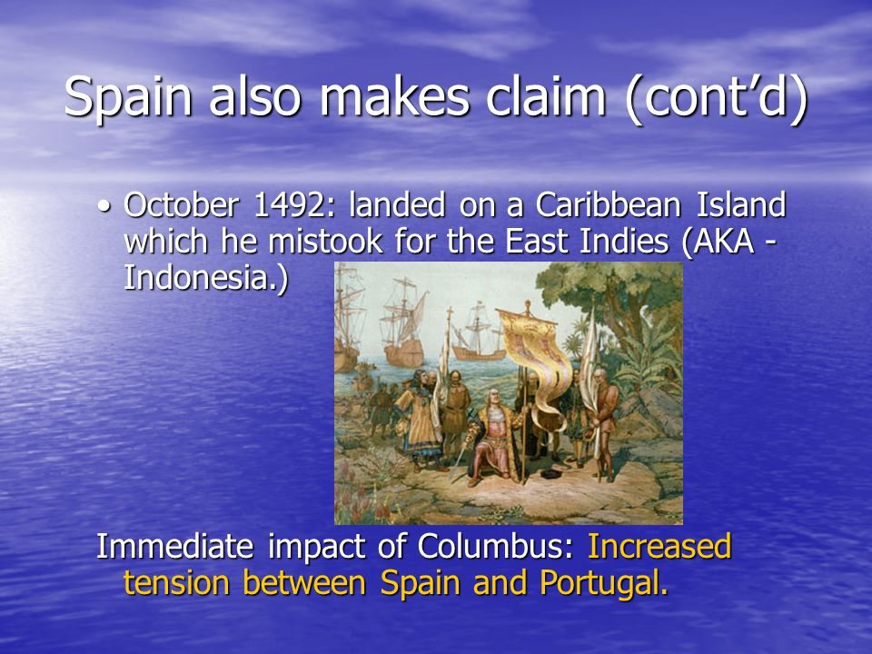 Spain also makes claim (cont'd)