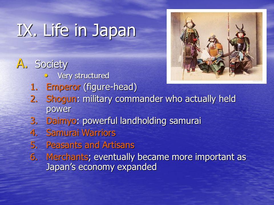 IX. Life in Japan Society Emperor (figure-head)