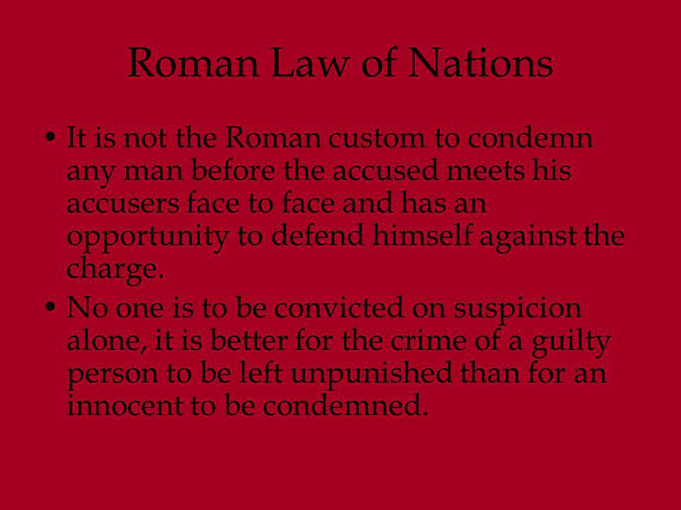 Roman Law of Nations