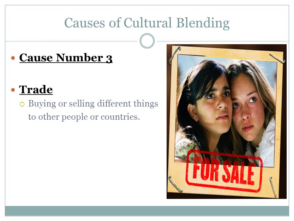 Causes of Cultural Blending