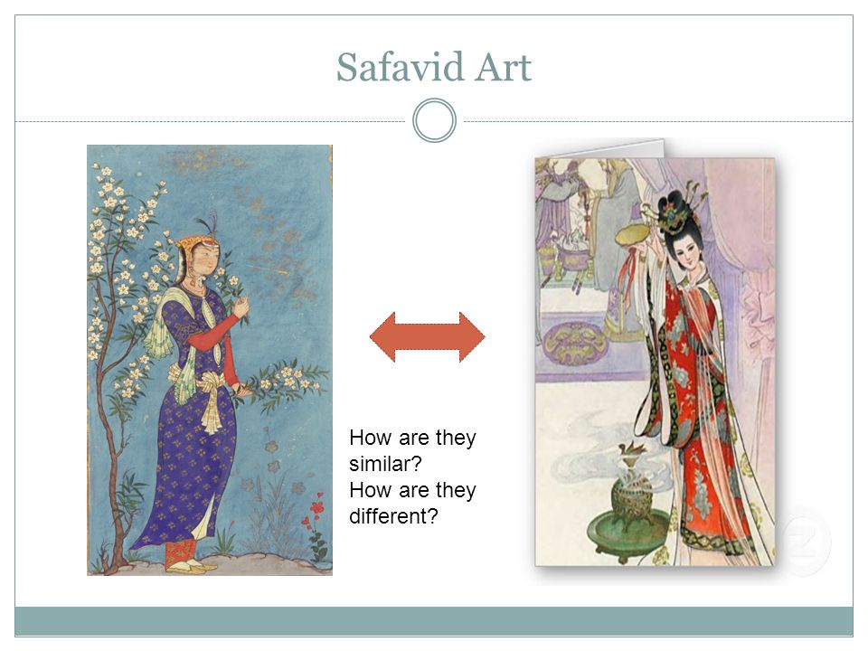 Safavid Art How are they similar How are they different