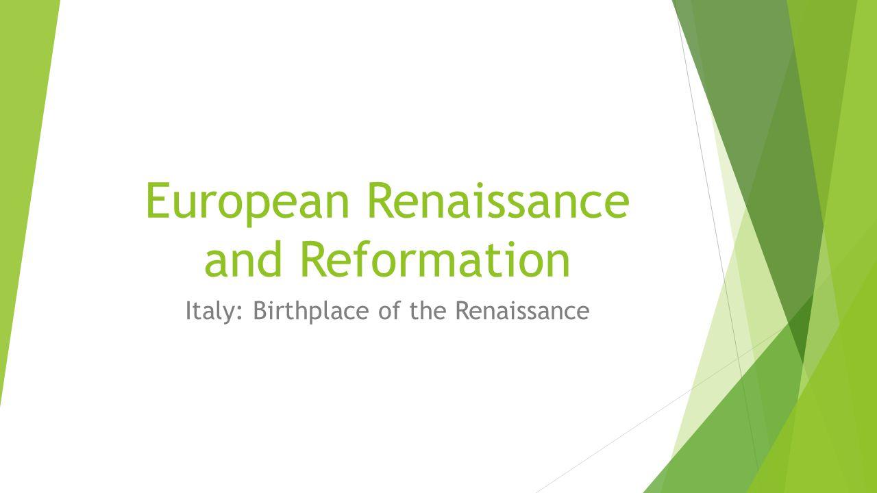 the european renaisance essay