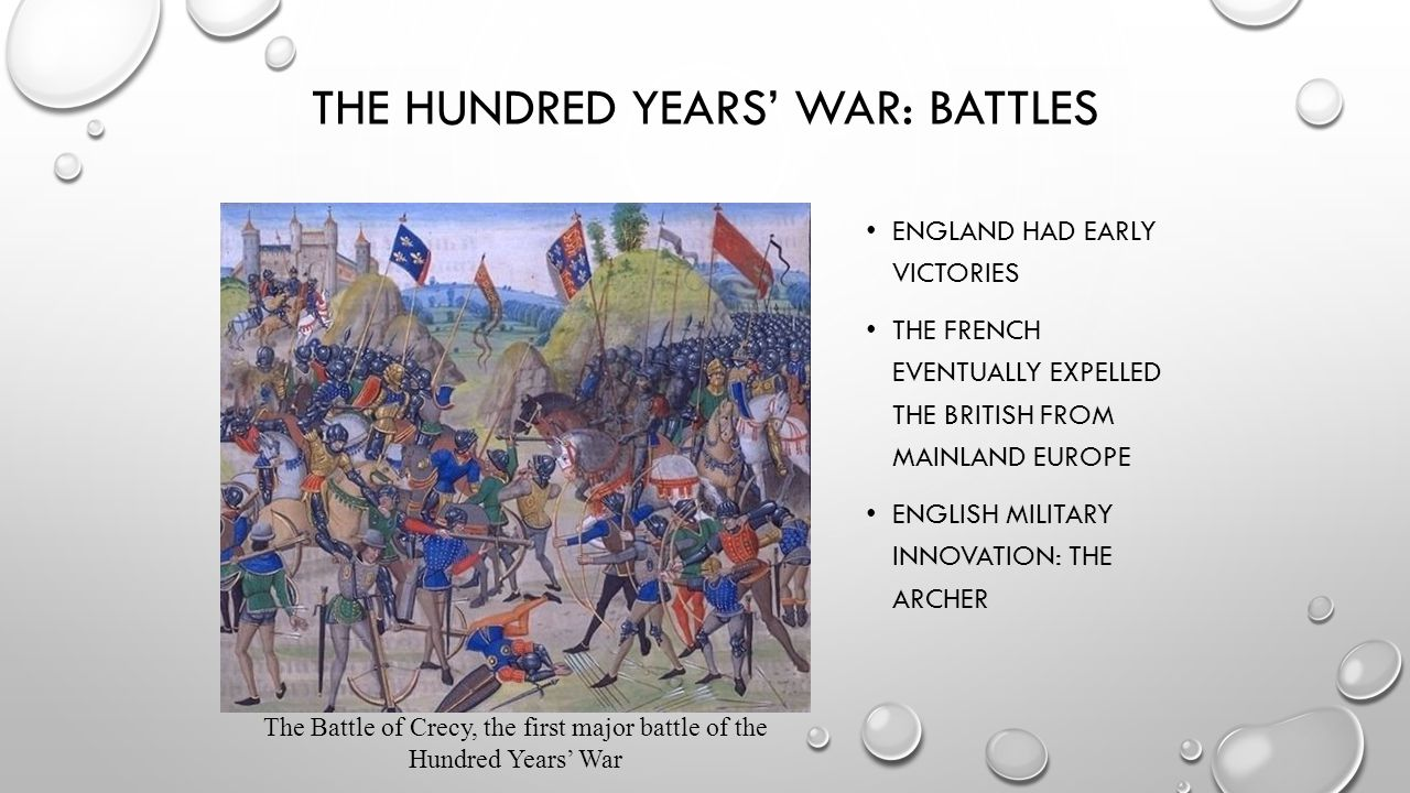 The Hundred Years' War: Battles
