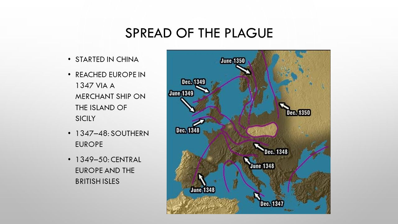 Spread of the Plague Started in China
