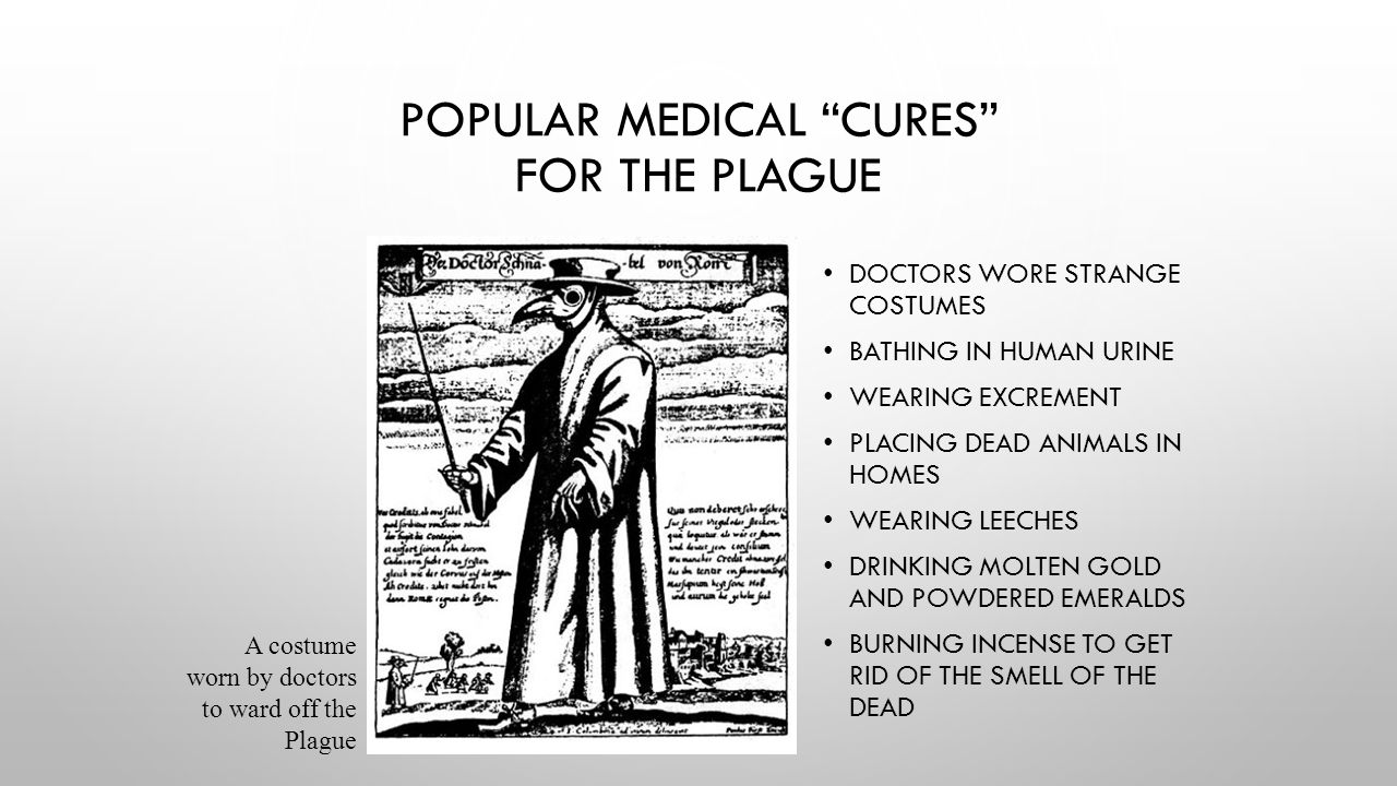 Popular Medical Cures for the Plague