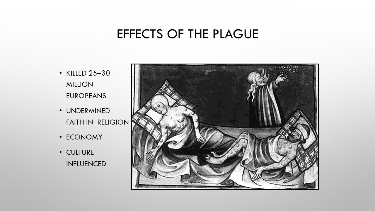 Effects of the Plague Killed 25–30 million Europeans