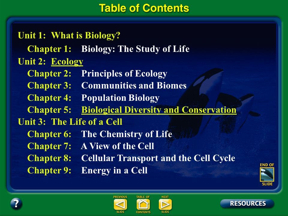 Table of Contents – pages vii-xiii