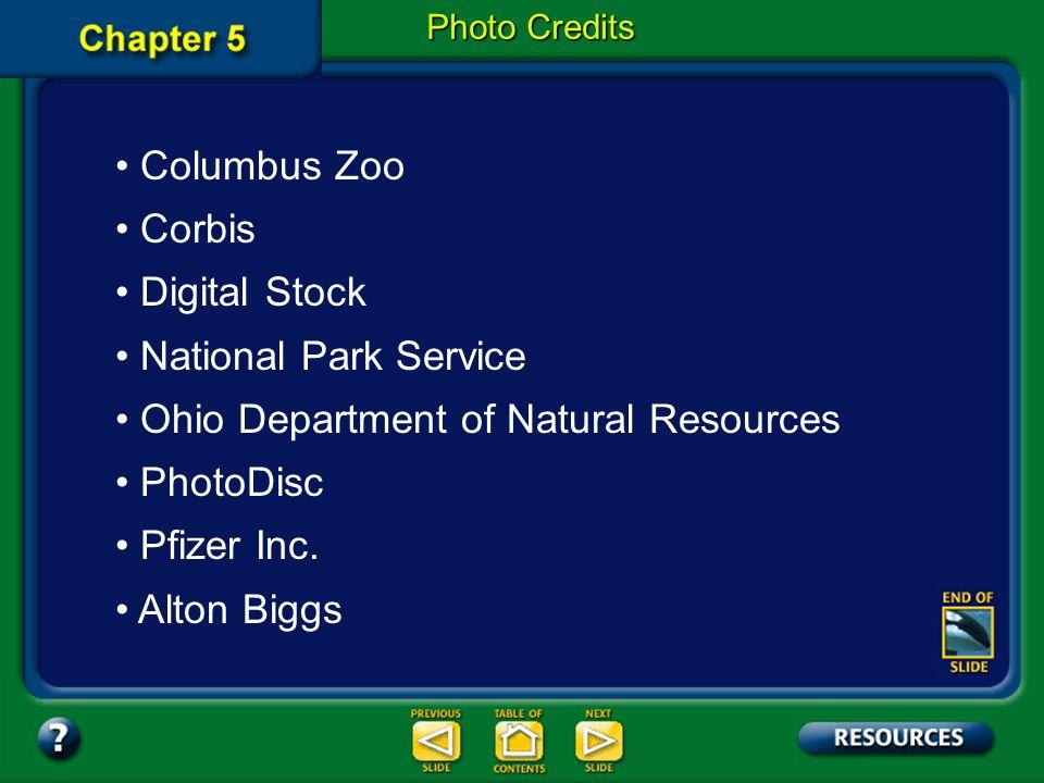 Ohio Department of Natural Resources PhotoDisc Pfizer Inc. Alton Biggs