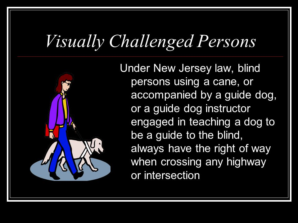 Visually Challenged Persons