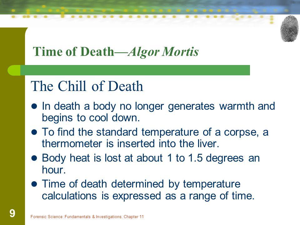 Time of Death—Algor Mortis