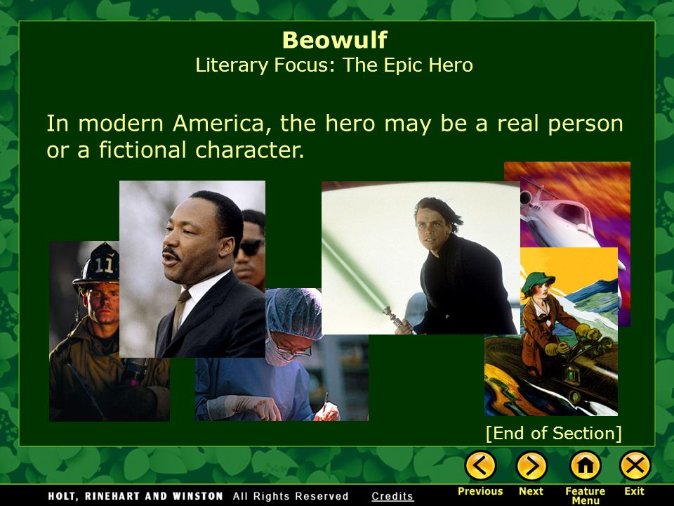 Beowulf Literary Focus: The Epic Hero