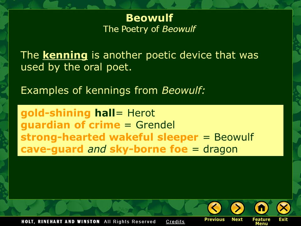 Beowulf The Poetry of Beowulf