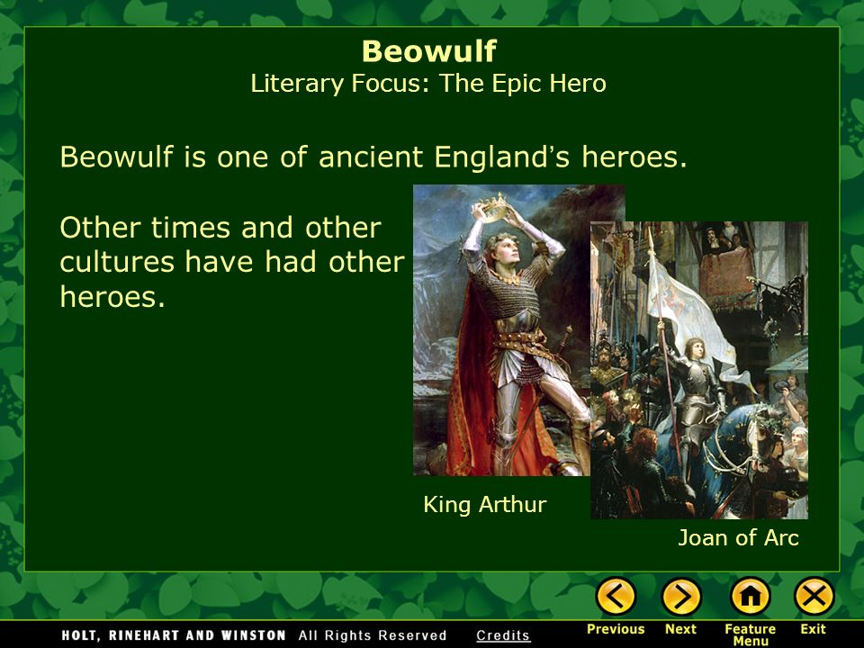 beowulf is an epic hero