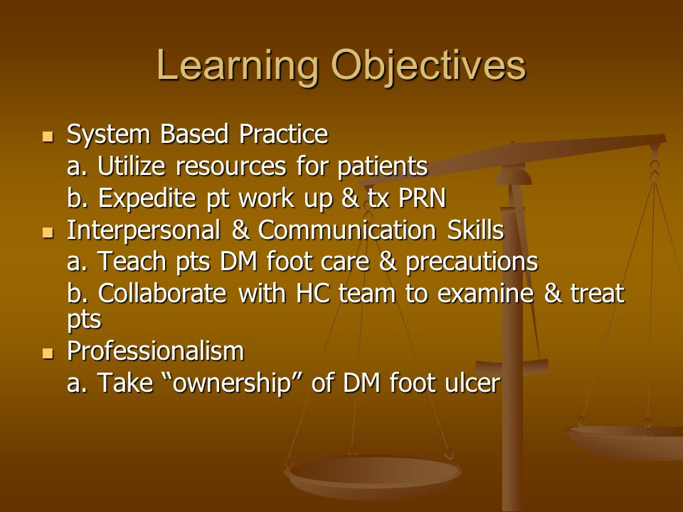 Learning Objectives System Based Practice