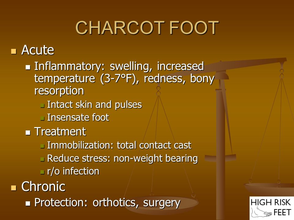CHARCOT FOOT Acute Chronic