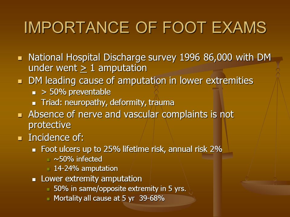 IMPORTANCE OF FOOT EXAMS