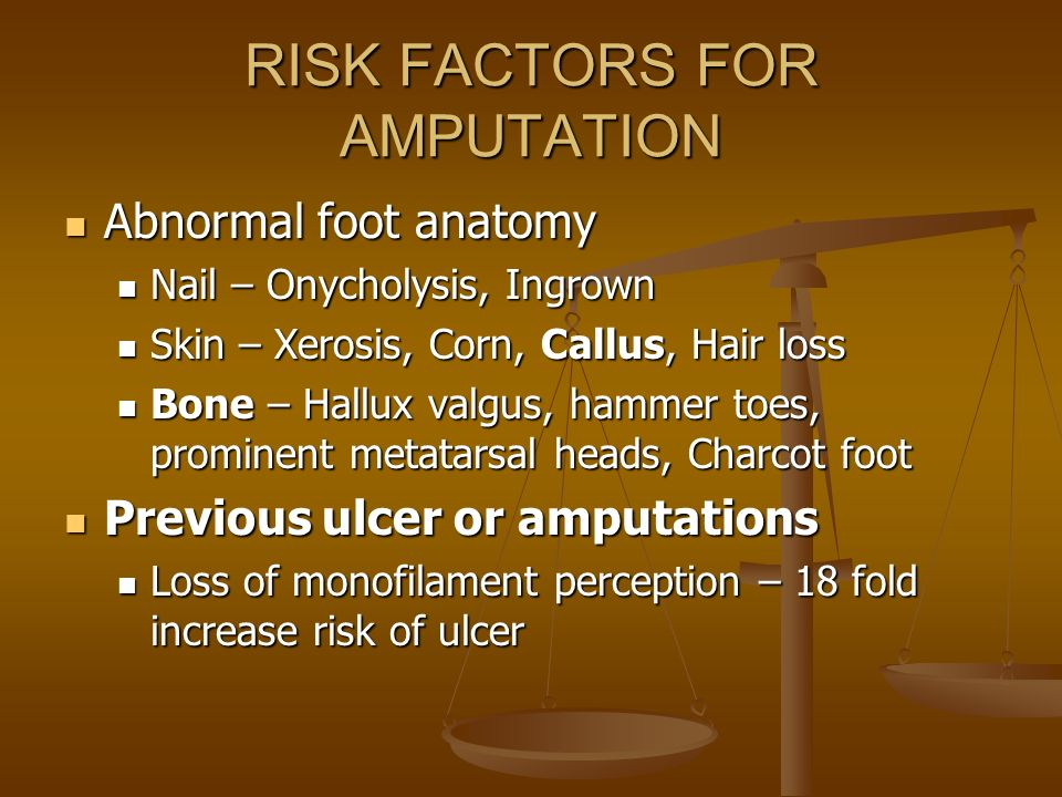 RISK FACTORS FOR AMPUTATION