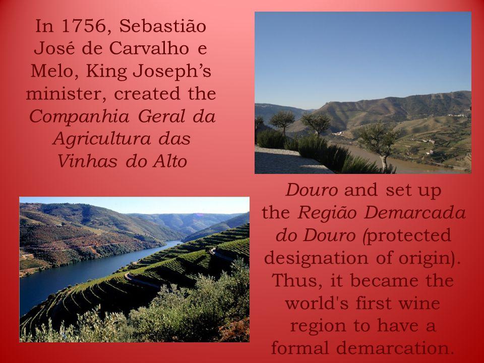 In 1756, Sebastião José de Carvalho e Melo, King Joseph's minister, created the Companhia Geral da Agricultura das Vinhas do Alto