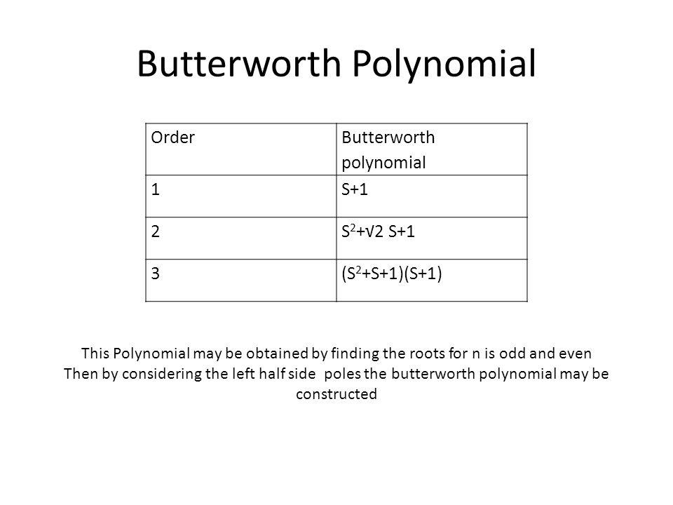 Butterworth Polynomial