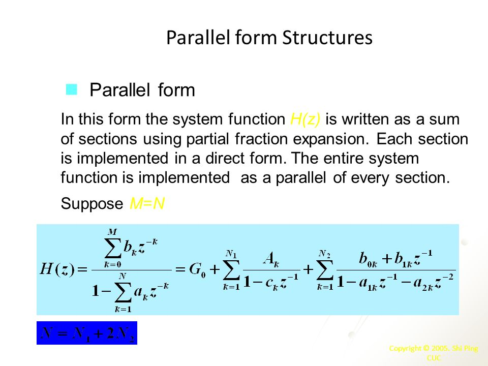 Parallel form Structures