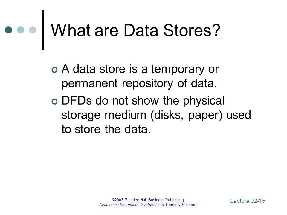 What are Data Stores A data store is a temporary or permanent repository of data.