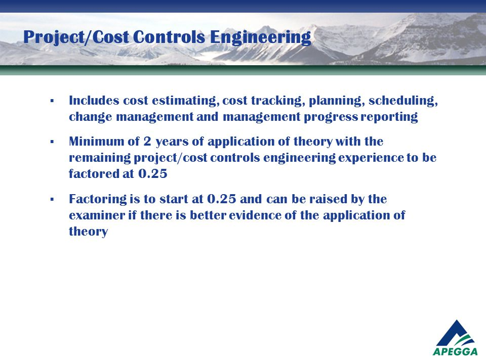 Project/Cost Controls Engineering