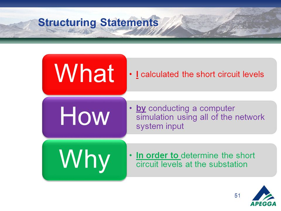 Structuring Statements