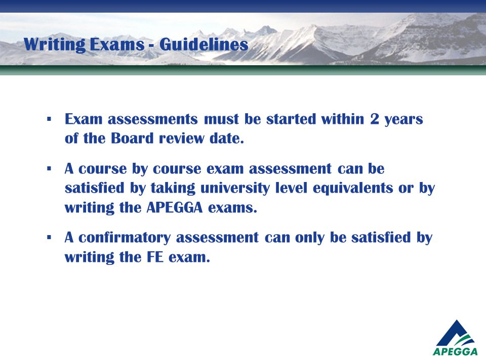 Writing Exams - Guidelines