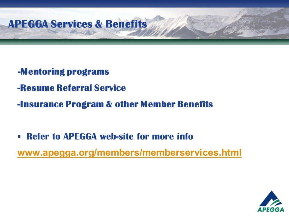 APEGGA Services & Benefits