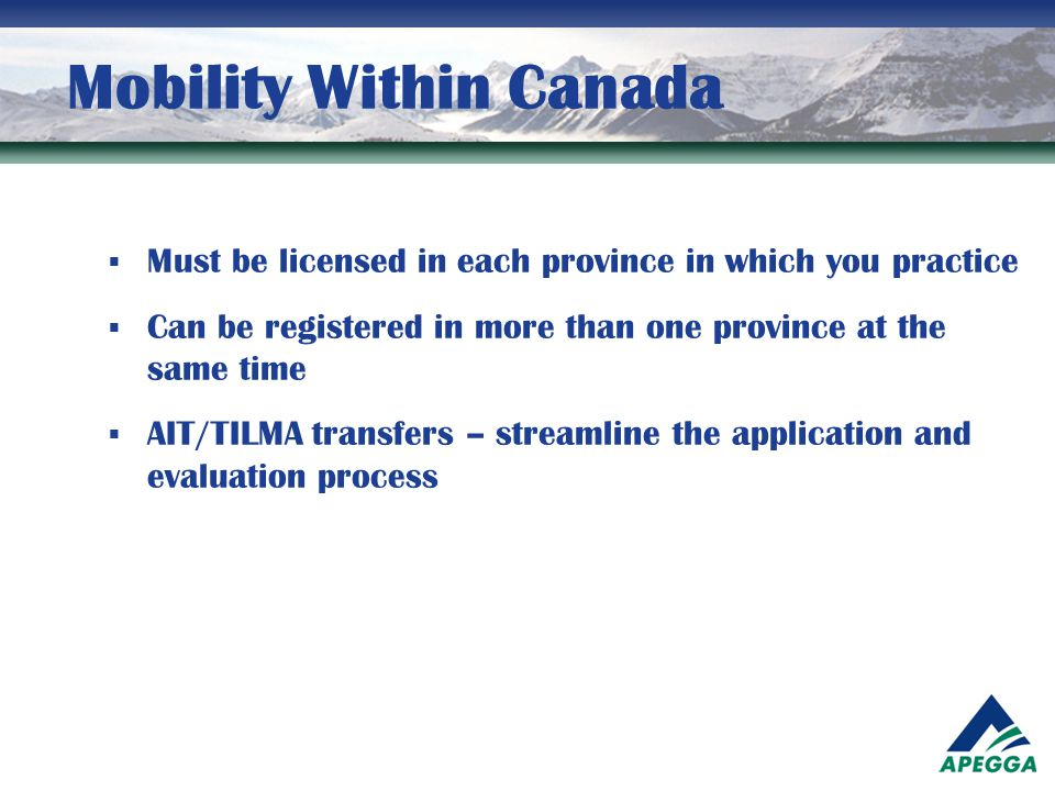 Mobility Within Canada