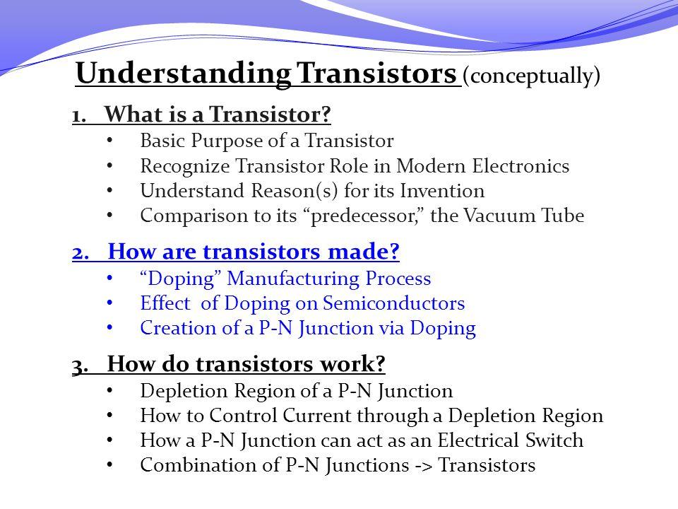 Understanding Transistors (conceptually)