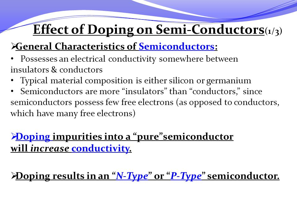 Effect of Doping on Semi-Conductors(1/3)