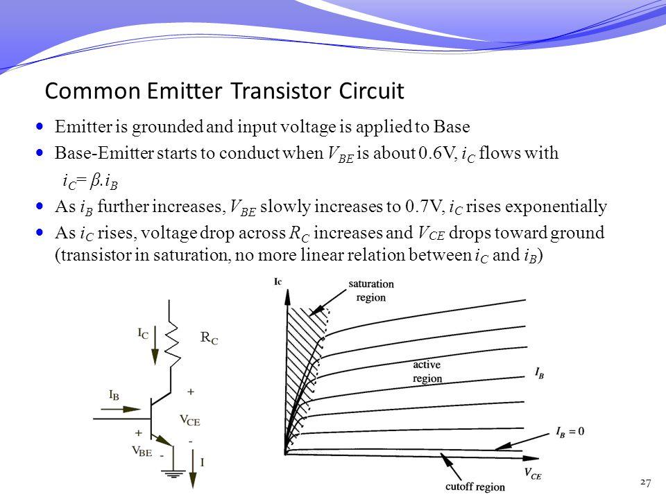 Common Emitter Transistor Circuit