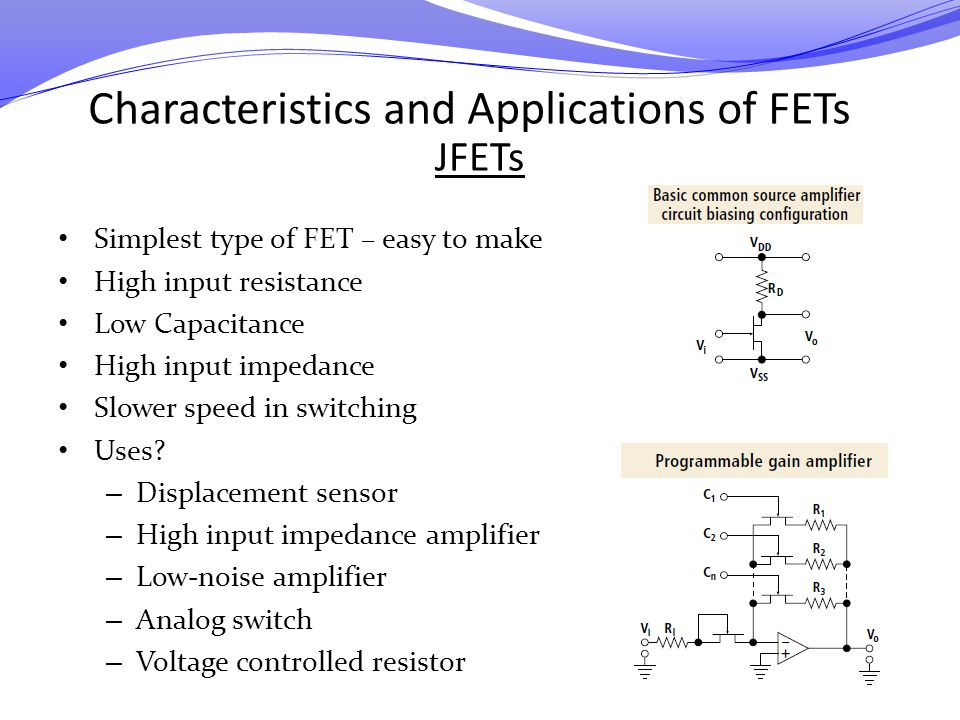 Characteristics and Applications of FETs