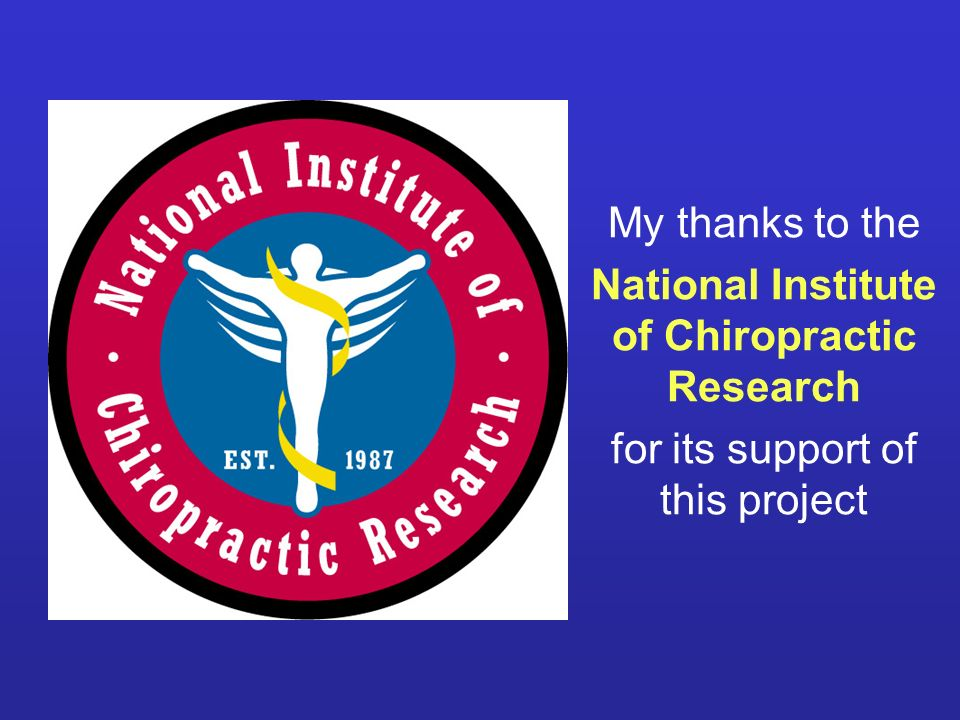 National Institute of Chiropractic Research
