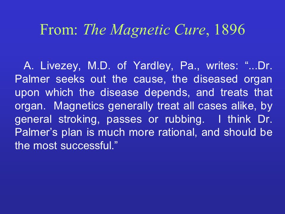 From: The Magnetic Cure, 1896