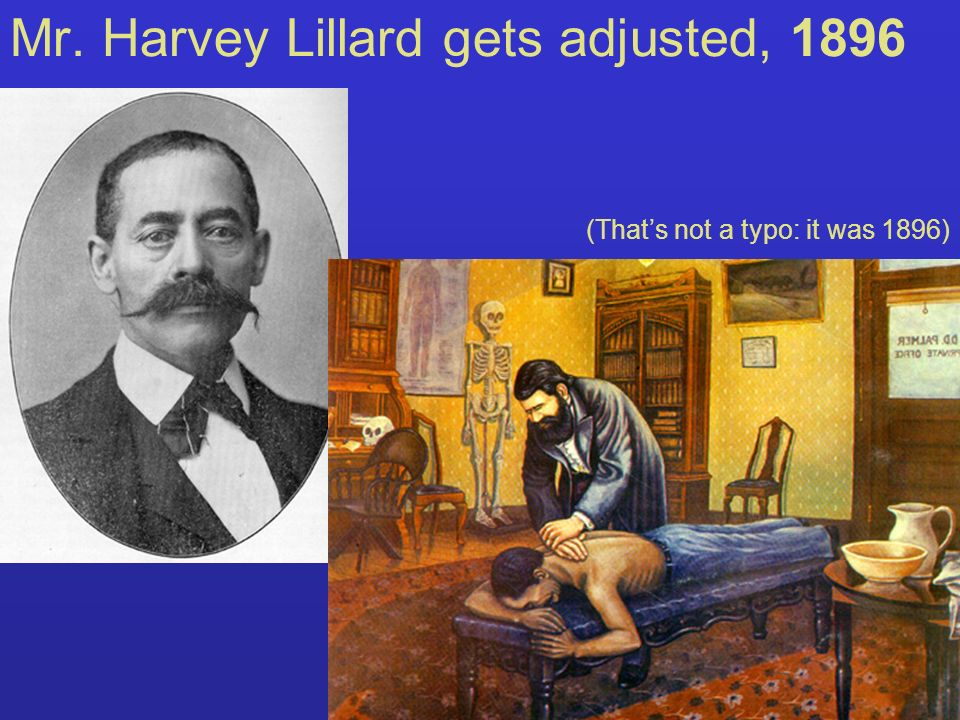 Mr. Harvey Lillard gets adjusted, 1896